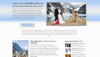 Lake Louise Harpist